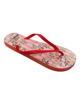 Chinelos Brasileras Senhora Printed Pink  Vermelho