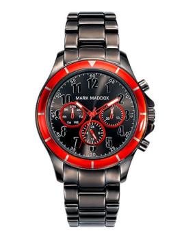 Relógio Mark Maddox Cinzento e Vermelho Homem