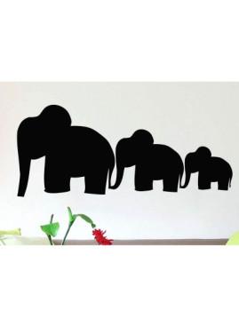 Sticker Elefantes Preto