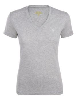 T-shirt Ralph Lauren Senhora Cinza