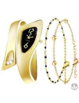 imagem de Relógio Dourado SC Bohemian com Cristais Swarovski® e pulseiras1