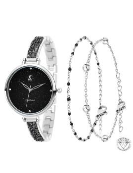 imagem de Relógio Elegant SC bohemic decorado com 4 Cristais Swarovski e pulseiras1