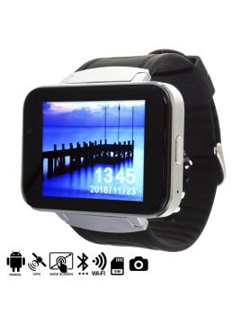 Smartwatch Android Com Ecrã Panorâmico, Camera e Gps Prateado