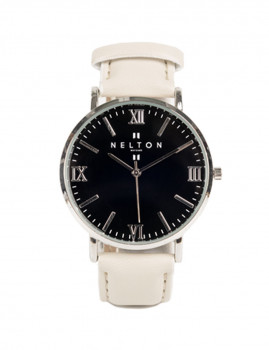 Relógio Nelton Nakar Preto e Prateado