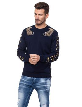 Sweatshirt Homem Azul Marinho