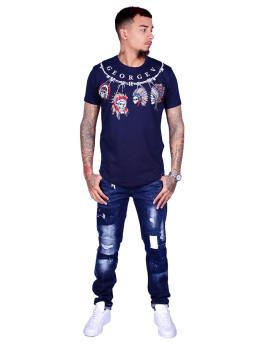 T-shirt Homem Azul Marinho