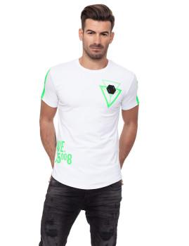 T-shirt Homem Branco-Verde