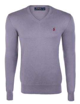 imagem de Pullover decote em V Homem Cinza e Bordeaux Homem 1