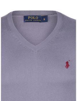 imagem de Pullover decote em V Homem Cinza e Bordeaux Homem 3