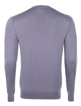 imagem de Pullover decote em V Homem Cinza e Bordeaux Homem 4