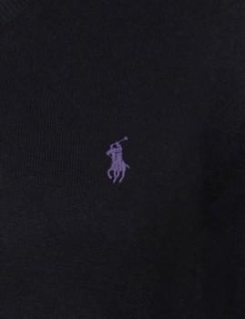imagem de Camisola decote em V Preto e Violeta Homem3