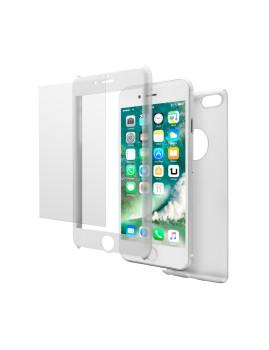 Pack Proteção Total com Capa Transparente e vidro  temperado Para Iphone 7 Plus