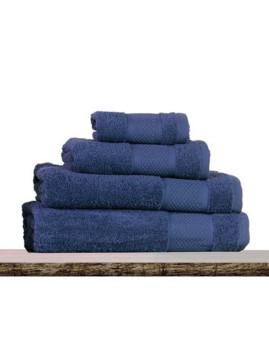 Conjunto Toalhas Turcas Favo azul escuro