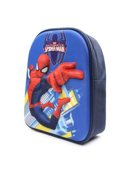 Mochila Marvel Criança Spider Web Azul