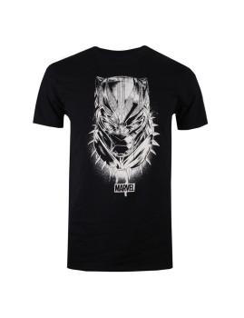 T-Shirt Mask Black Panther  Preto