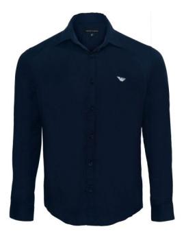 Camisa Emporio Armani Azul Navy