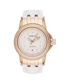 Relógio Senhora  Magnetic Dourado Rosa
