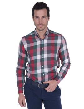 Camisa Giorgio di Mare Verde e Vermelha