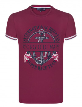 T-Shirt Giorgio Di Mare Bordeaux