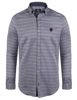 Camisa Paul Parker Riscas Azuis Navy