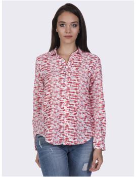 Camisa Mulher Felix Hardy Branco e Vermelho