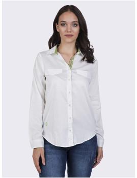 Camisa Mulher Felix Hardy Branco e Verde