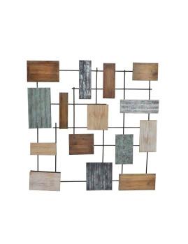 Decoração Parede Abstracto Metal 76X76X5