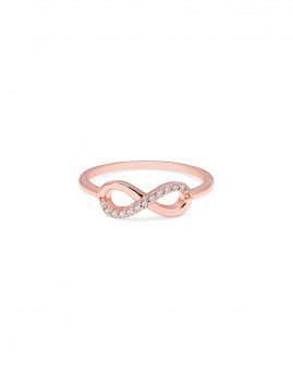 Anel Infinity Tam. 7 Ouro Rosa