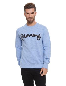 Sweatshirt Money Homem Rope Sig Crew Azul Claro