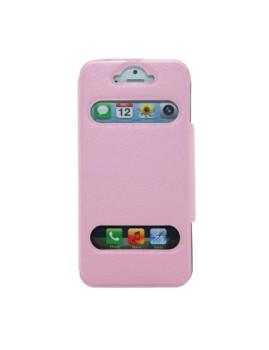 Capa Livro com duas janelas Iphone5 - Rosa