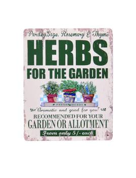 Placa Metálica Herbs