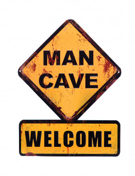 Placa Metálica Man Cave
