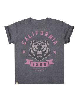 T-shirt California Bear Grafite
