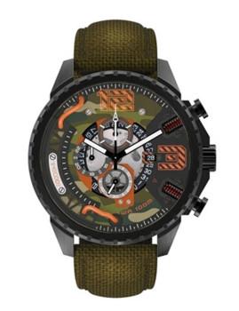 Relógio Timecode Tesla 1893 Verde e Verde Camuflado