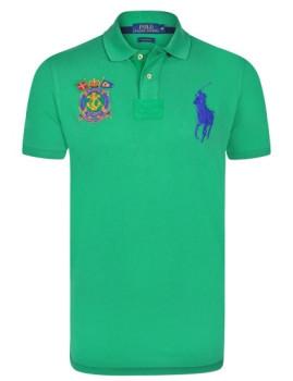 Pólo Ralph Lauren Marine Homem Verde e Azul Navy