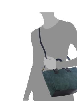 imagem de Mala Tote Agnese Azul Petroleo4