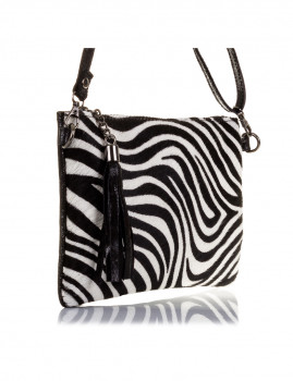 imagem de Mala de Ombro Zebra Preta E Branca3
