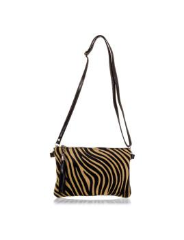 imagem de Mala de Ombro Zebra Castanha E Preta2