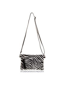 imagem de Mala de Ombro Zebra Preta E Branca2