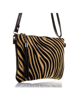 imagem de Mala de Ombro Zebra Castanha E Preta3