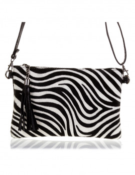 imagem de Mala de Ombro Zebra Preta E Branca1
