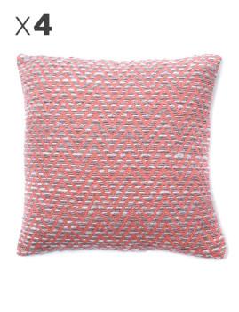 imagem de Pack 4 Capas Almofada Mosaico Pink Candy1