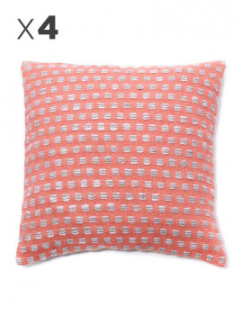 imagem de Pack 4 Capas Almofada Dots Pink Candy1