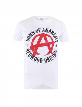 T-shirt Anarchy Homem Branco