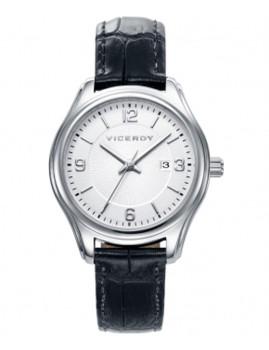 Relógio Viceroy Prateado, Preto e Branco