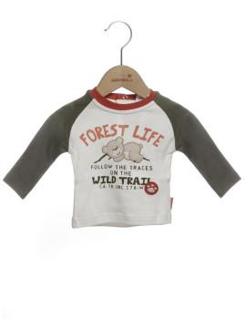 T-Shirt Bebé  Girandola Cru e Caqui