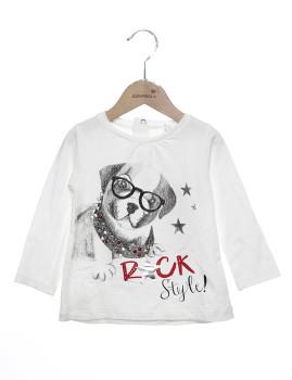T-shirt mini Menina M Girandola Branco