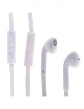 Auriculares c/ Controlo de Volume e Mãos Livres Branco