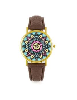 Relógio Sidartha Etnic Castanho Senhora