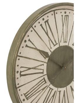 imagem de Relógio em Número Romanos Metal Branco, Caqui2